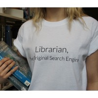 "T-Shirt - ""Librarian, The Original Search Engine"""